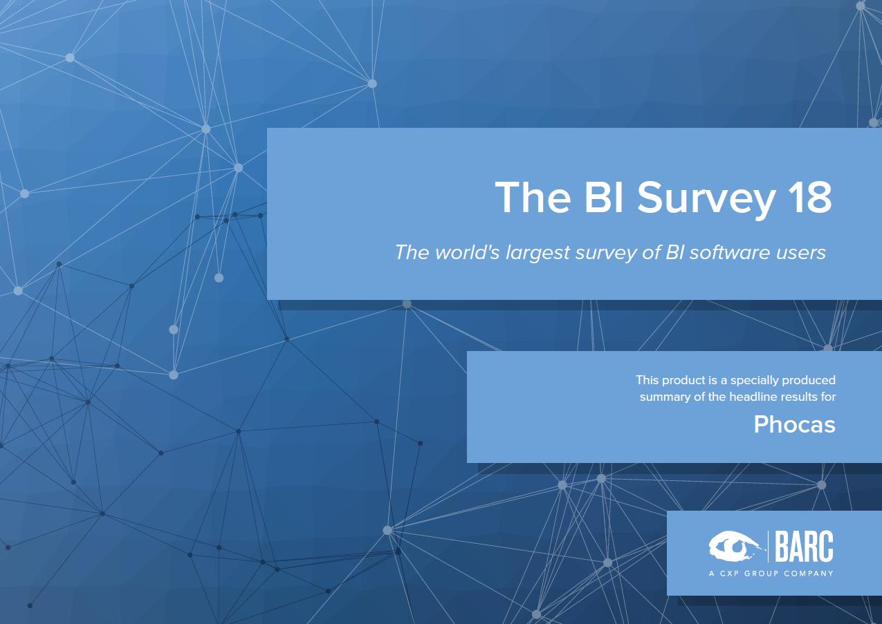 Phocas i BARCs The BI Survey 18